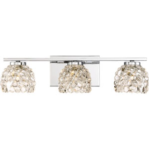 Meridian Polished Chrome 20-Inch Three-Light Bath Light