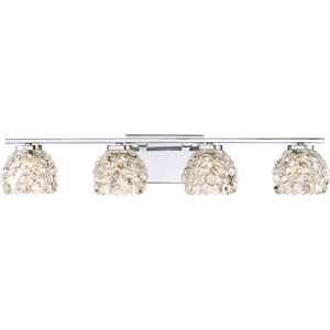 Meridian Polished Chrome 28-Inch Four-Light Bath Light