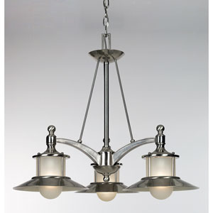 Nautical Three-Light Chandelier
