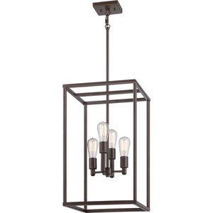 New Harbor Western Bronze Four Light Mini Chandelier