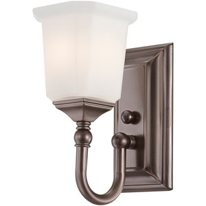 Nicholas Harbor Bronze One-Light Bath Fixture