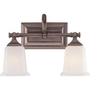 Nicholas Harbor Bronze Two-Light Bath Fixture
