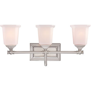 Nicholas Brushed Nickel Three-Light Bath Fixture