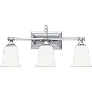 Nicholas Polished Chrome Three-Light Bath Light