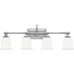 Nicholas Polished Chrome Four-Light Bath Light