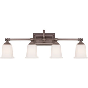 Nicholas Harbor Bronze Four-Light Bath Fixture