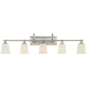 Nicholas Brushed Nickel Five-Light Bath Light