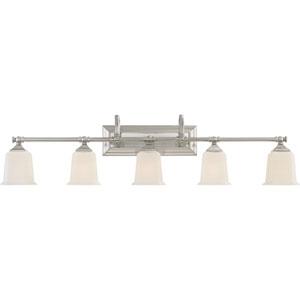 Nicholas Brushed Nickel Five-Light Bath Light