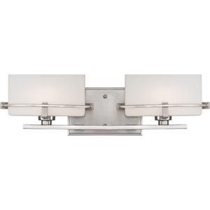 Nolan Brushed Nickel Two-Light LED Vanity