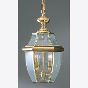 Newbury Outdoor Pendant - Polished Brass