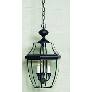 Newbury Black Outdoor Pendant