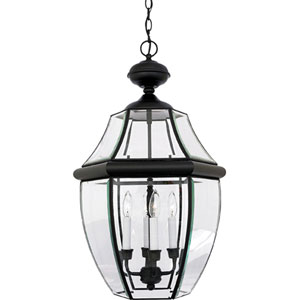 Newbury Large Mystic Black Outdoor Pendant