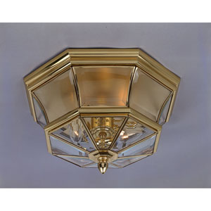 Polished Brass Flush Mount
