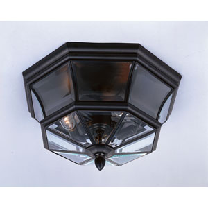 Mystic Black Outdoor Flush Mount