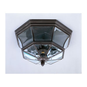 Newbury Bronze Outdoor Flush Ceiling Light