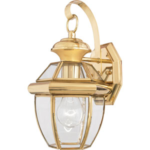 Newbury Small Wall Lantern - Polished Brass
