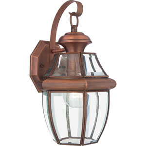 Newbury Aged Copper Medium Outdoor Wall Mount