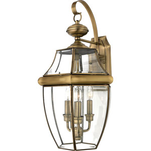 Newbury Antique Brass Wall Lantern