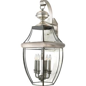 Newbury Pewter Four-Light Outdoor Wall Lantern