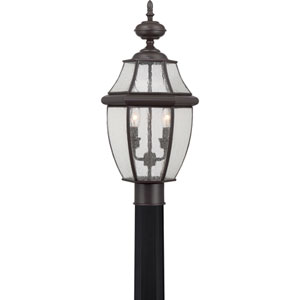 Newbury Medici Bronze 11-Inch Two-Light Outdoor Post Mount