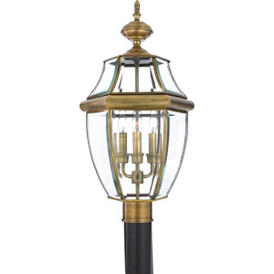 Antique Brass Post Lantern