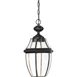 Newbury Clear LED Mystic Black 11-Inch Outdoor Hanging Lantern