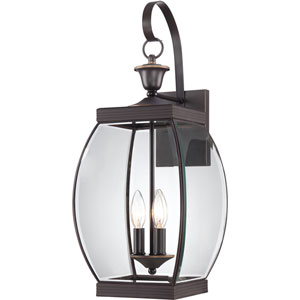 Oasis Bronze Three-Light Outdoor Fixture