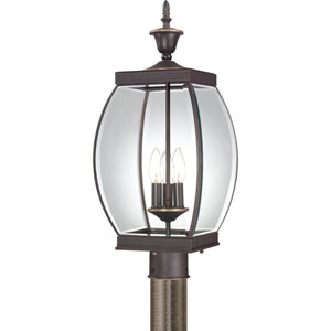 Oasis Medici Bronze Three-Light Outdoor Fixture