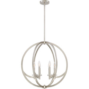 Orion Brushed Nickel Six-Light Orb Pendant