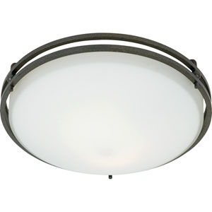 Ozark Iron Gate Small Flush Mount Ceiling Light