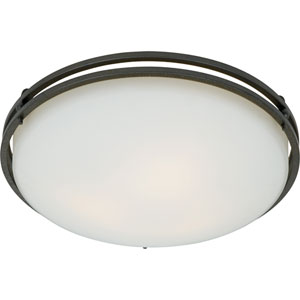 Ozark Iron Gate Large Flush Mount Ceiling Light