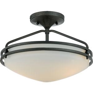 Ozark Iron Gate Small Semi-Flush Ceiling light