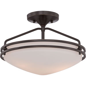 Ozark Palladian Bronze 9.5-Inch Height Two-Light Close to Ceiling