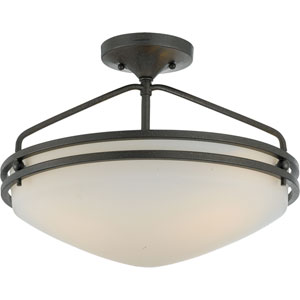 Ozark Iron Gate Large Semi-Flush Ceiling light