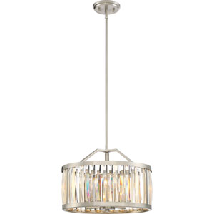 Platinum Collection Ballet Brushed Nickel 17-Inch Four-Light Pendant