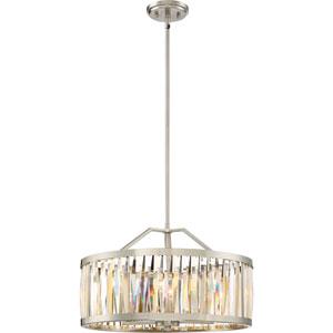 Platinum Collection Ballet Brushed Nickel 21-Inch Five-Light Pendant
