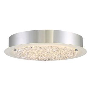 Platinum Collection Blaze 12-Inch Polished Chrome LED Flush Mount