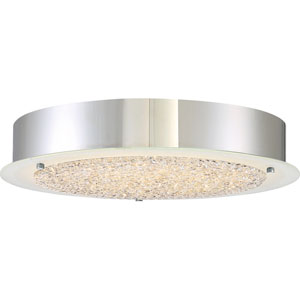 Platinum Collection Blaze 16-Inch Polished Chrome LED Flush Mount