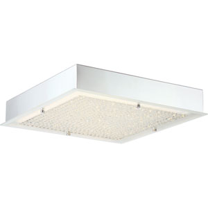 Platinum Collection Blaze Polished Chrome 16-Inch LED Flush Mount