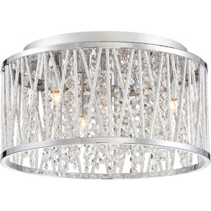 Platinum Collection Crystal Cove Polished Chrome LED Four-Light Flush Mount