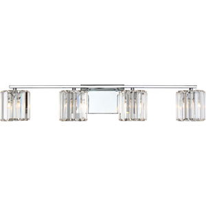 Platinum Collection Divine Polished Chrome Four-Light LED Vanity