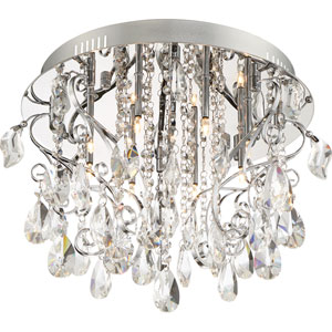 Platinum Collection Enrapture Polished Chrome Eight-Light Flush Mount