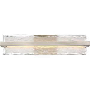 Platinum Collection Glacial Brushed Nickel 22-Inch LED Bath Bar