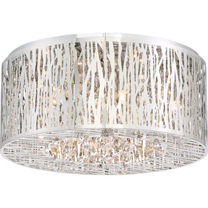 Platinum Collection Grotto 16-Inch Polished Chrome LED Six-Light Flush Mount