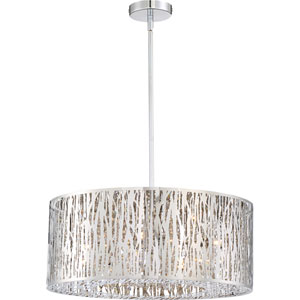 Platinum Collection Grotto 22-Inch Polished Chrome LED Eight-Light Pendant