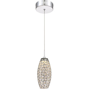 Platinum Collection Infinity Polished Chrome 4-Inch LED Mini Pendant