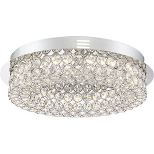 Platinum Collection Infinity 16-Inch Polished Chrome LED Flush Mount