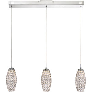 Platinum Collection Infinity Polished Chrome 32-Inch LED Island Pendant