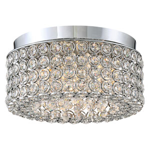 Platinum Collection Identity Polished Chrome 11-Inch Four-Light Flush Mount