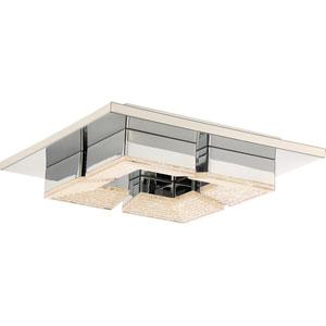 Platinum Collection Lunette 11-Inch Polished Chrome LED Flush Mount